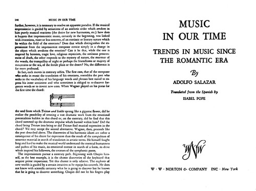 Music in Our Time, Trends in Music Since the Romantic Era