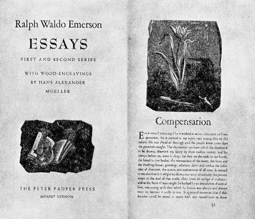 essays first series emerson pdf Ralph waldo emerson can rightly be called the first american  had regularly  delivered a series of lectures on the lyceum  essays: first and second series.