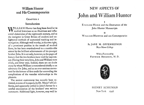 New Aspects of John and William Hunter