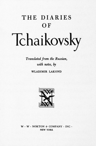 The Diaries of Tchaikovsky