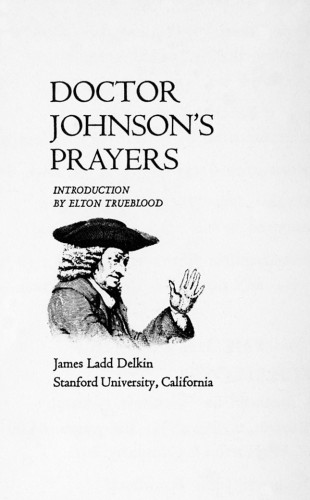 Dr. Johnson's Prayers