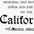 Memorial and Proposals of Señor Don José Martin on the Californias, Mexico, 1822