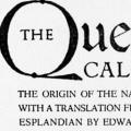 The Queen of California, The Origin of the Name of California