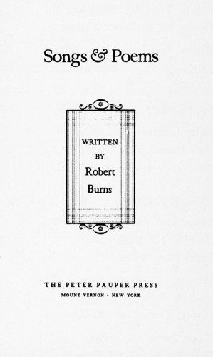 Songs and Poems Written by Robert Burns