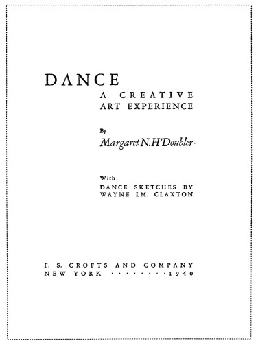 DANCE: A Creative Art Experience