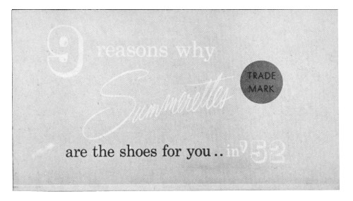 9 reasons why Summerettes are the shoes for you…
