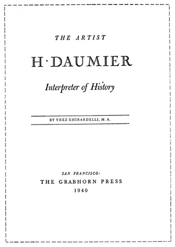 The Artist, H. Daumier, Interpreter of History