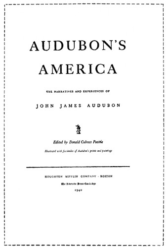 Audubon's America: The Narrative and Experiences of John James Audubon