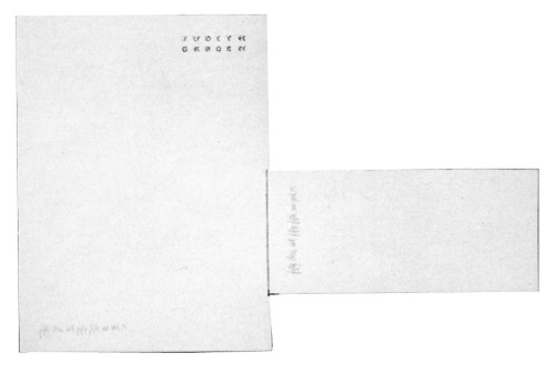Judith Garden letterhead and envelope