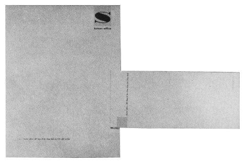 Sutnar letterhead and envelope