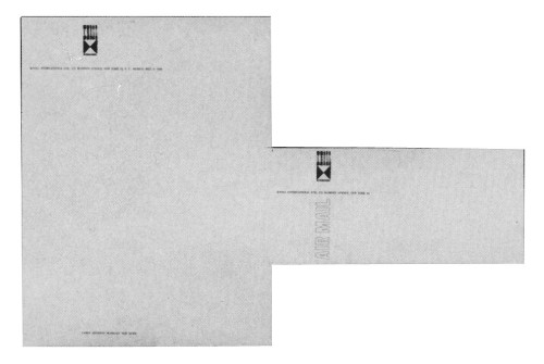 Knoll letterhead and envelope