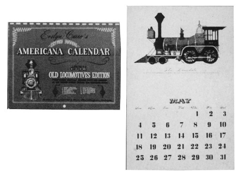 Americana Calendar, 1952 Old Locomotives Edition