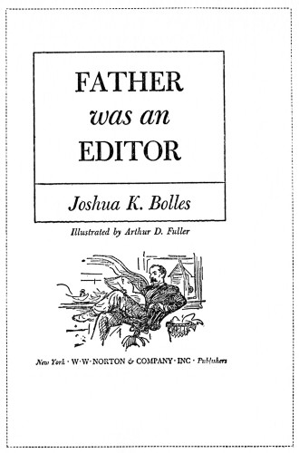 Father Was an Editor