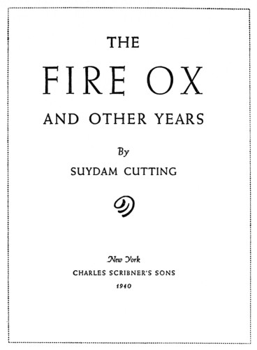 The Fire Ox and Other Years