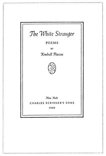 The White Stranger, poems