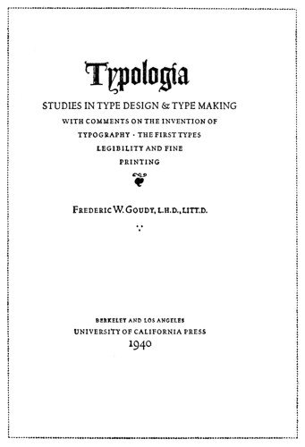 Typologia: Studies in Type Design & Type Making
