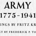 Soldiers of the American Army, 1776–1941