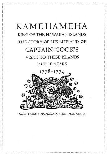 Kamehameha, King of the Hawaiian Islands