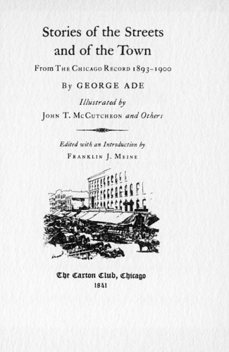 Stories of the Streets and of the Town, from The Chicago Record, 1893–1900
