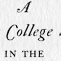 A Columbia College Student in the Eighteenth Century