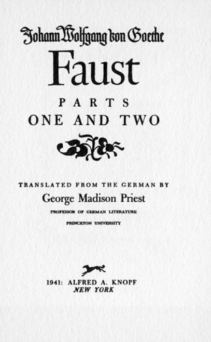 Faust, Parts One and Two