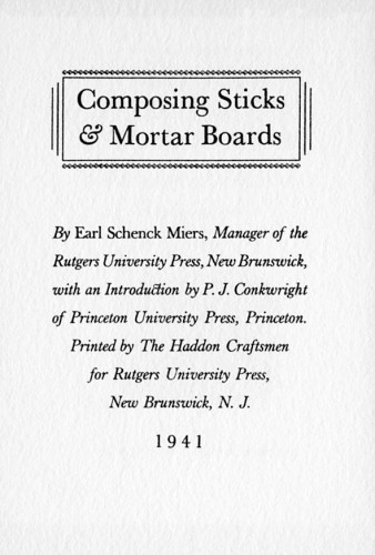 Composing Sticks and Mortar Boards