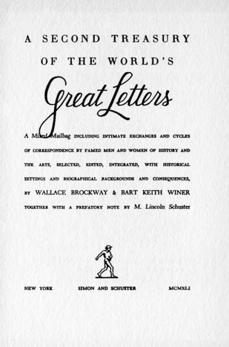 A Second Treasury of the World's Great Letters