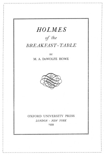 Holmes of the Breakfast Table