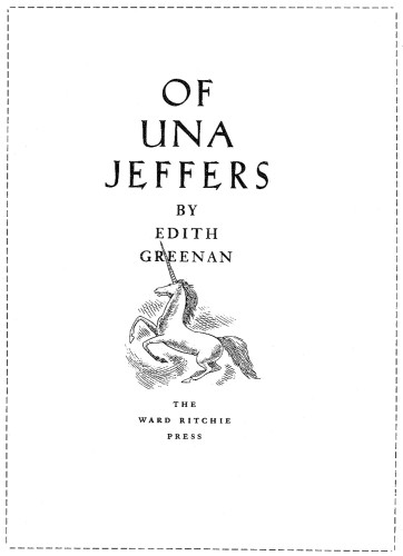 Of Una Jeffers