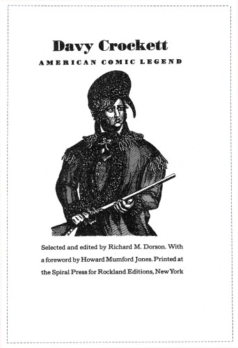 Davy Crockett, American Comic Legend
