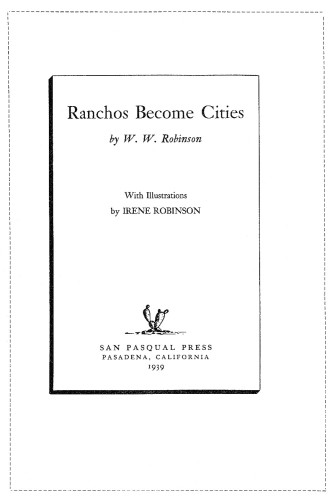 Ranchos Become Cities