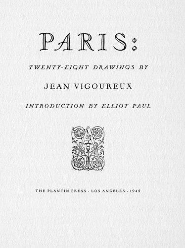 Paris: Twenty-Eight Drawings by Jean Vigoureux