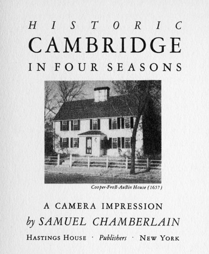 Historic Cambridge in Four Seasons, A Camera Impression