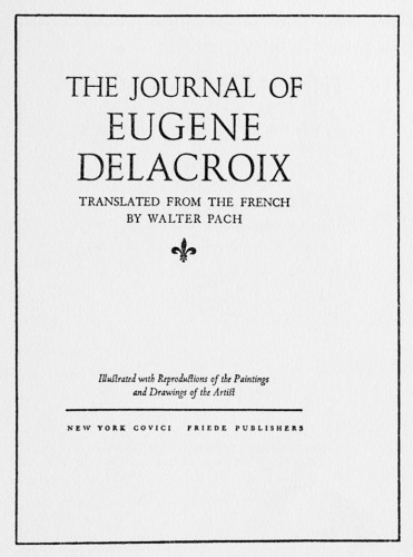 The Journal of Eugene Delacroix