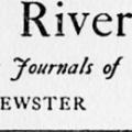 Concord River, Selections from the Journals of William Brewster