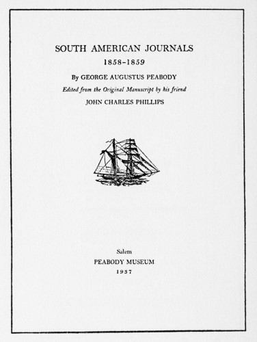 South American Journals, 1858–1859