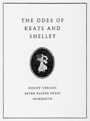 The Odes of Keats and Shelley