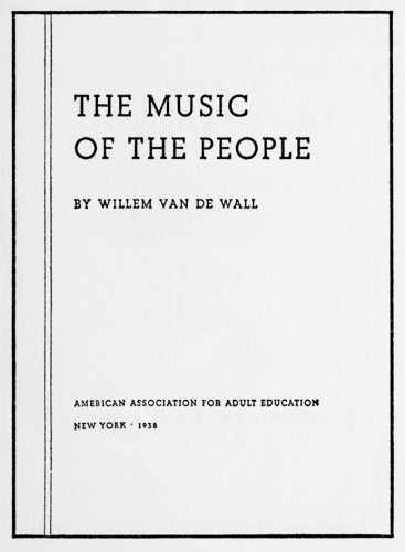 The Music of the People