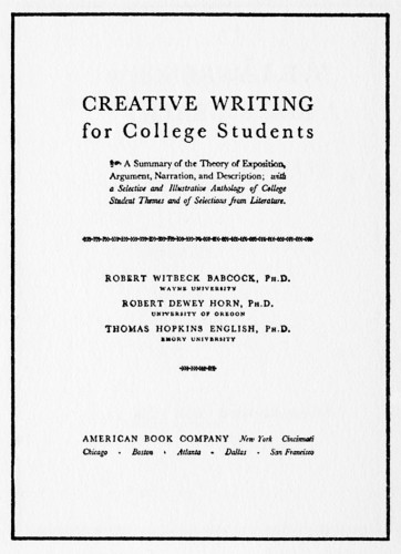 Creative Writing for College Students
