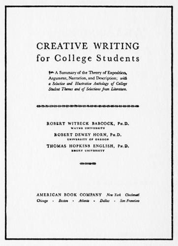 Best creative writing programs undergraduate