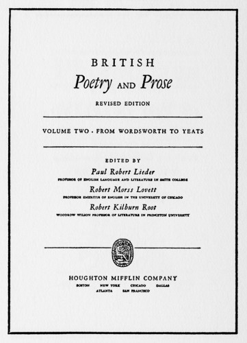 British Poetry and Prose, Revised Edition