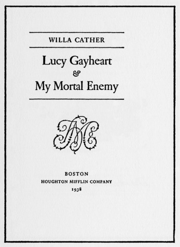 The Novels and Stories of Willa Cather