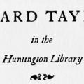 The Unpublished Letters of Bayard Taylor in the Huntington Library