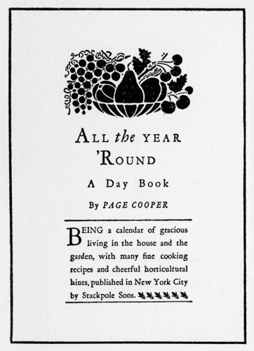 All the Year 'Round, A Day Book