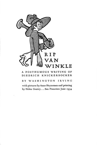 Rip Van Winkle, A Posthumous Writing of Diedrich Knickerbocker