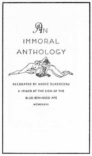 An Immoral Anthology
