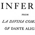 The Inferno from La Divina Commedia of Dante Alighieri