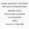 California in 1851, The Letters of Dame Shirley