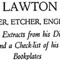 Sidney Lawton Smith: Designer, Etcher, Engraver, With Extracts from His Diary and a Check List of His Bookplates
