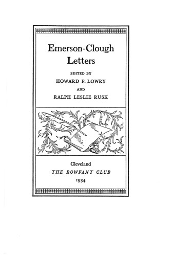 Emerson-Clough Letters